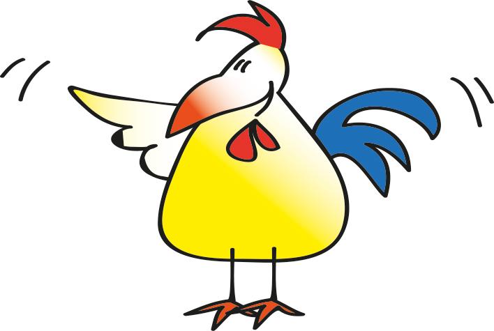 Grafik Huhn - der Feiertag