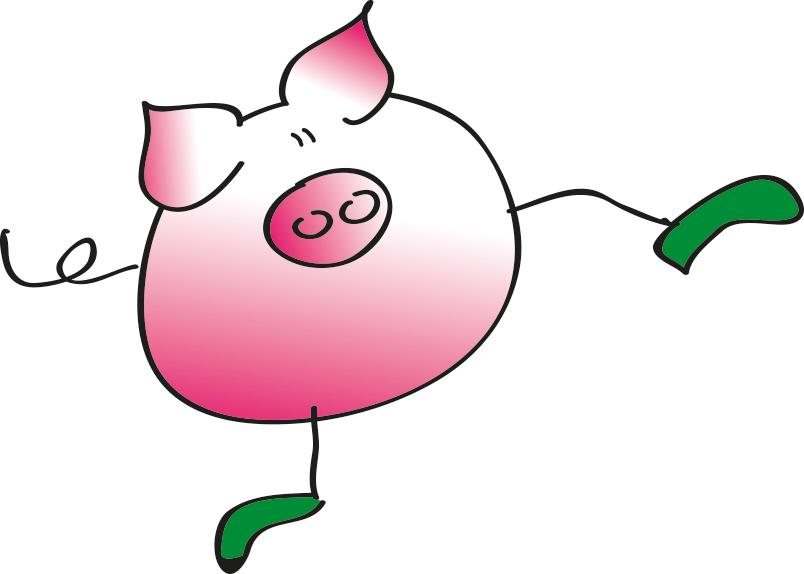 Schwein Grafik - der Feiertag