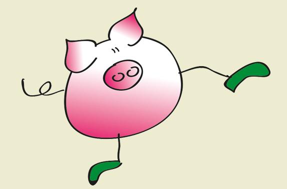 Turopoljeschwein-Zeichnung