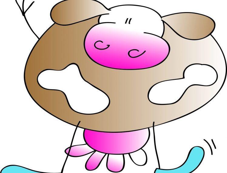 gezeichnete Kuh als Markenzeichen von Feiertag
